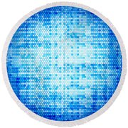 Seamless Honeycomb Pattern Round Beach Towel