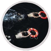 Search And Rescue Swimmers Round Beach Towel