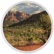 Sedona Red Rock  Round Beach Towel
