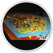 Settlers Of Catan Round Beach Towel