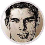 Sidney Crosby In 2007 Round Beach Towel