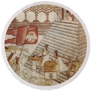Siege Of Tenochtitlan 1521 Round Beach Towel