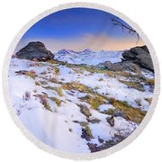 Sierra Nevada Round Beach Towel