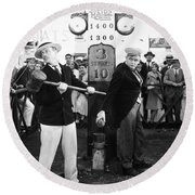 Silent Film: Amusement Park Round Beach Towel