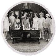 Silent Still: Showgirls Round Beach Towel