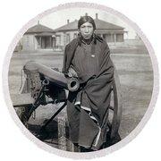Sioux Warrior, 1891 Round Beach Towel