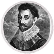 Sir Francis Drake, English Explorer Round Beach Towel