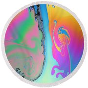 Soap Film Round Beach Towel