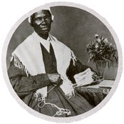 Sojourner Truth, African-american Round Beach Towel by Photo Researchers