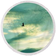 Solo Flight Round Beach Towel