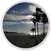 Sombrero Beach Round Beach Towel