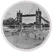Southbank London Round Beach Towel