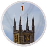 Southwark Cathedral London Round Beach Towel