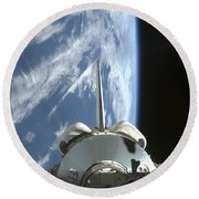 Space Shuttle Endeavours Payload Bay Round Beach Towel by Stocktrek Images