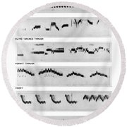 Spectrograms Round Beach Towel