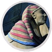 Sphinx Round Beach Towel