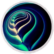 Spiral-2 Round Beach Towel
