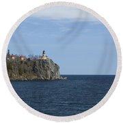Split Rock Lighthouse 82 Round Beach Towel