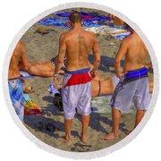 Spring Break Round Beach Towel