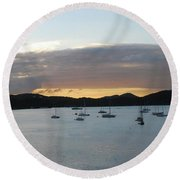 St. Thomas Sunset Round Beach Towel