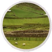 Staigue Fort, Kerry Round Beach Towel