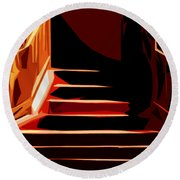 Stairs At Palace Avenue Round Beach Towel