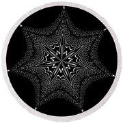 Star Fish Kaleidoscope Round Beach Towel