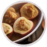 Stuffed Baked Apples Round Beach Towel by Joana Kruse