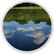 Summer's Reflections Round Beach Towel