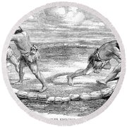 Sumo Wrestling, 1853 Round Beach Towel