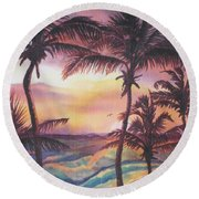 Sunrise At Cattlewash 2 Round Beach Towel