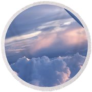 Sunrise Over The Wing Round Beach Towel