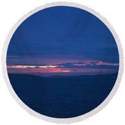 Sunset In Mali Drvenik Round Beach Towel