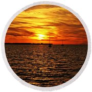 Sunset Xxxii Round Beach Towel