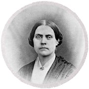 Susan B. Anthony, American Civil Rights Round Beach Towel by Photo Researchers, Inc.