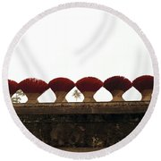 Symmetry  Round Beach Towel