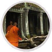 Ta Prohm Cambodia Round Beach Towel