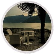 Table And Chairs Round Beach Towel