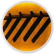 Taos Sundown Round Beach Towel