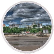 Tenby North Beach Round Beach Towel