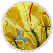 Tender Tulips Round Beach Towel