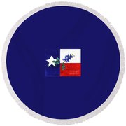 Texas Bluebonnet Round Beach Towel