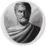 Thales, Ancient Greek Philosopher Round Beach Towel by Photo Researchers, Inc.