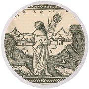 The Astrologer Albumasar Round Beach Towel