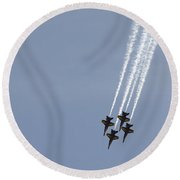 The Blue Angels Perform Aerial Round Beach Towel