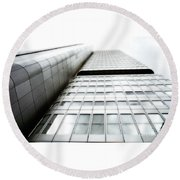 The Building Round Beach Towel