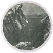 The Capture Of Margaret Garner Round Beach Towel