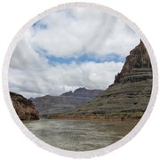 The Colorado River-a Grand Canyon Perspective II Round Beach Towel