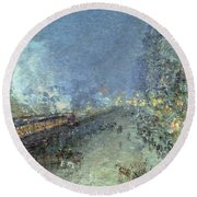 The El Round Beach Towel by Childe Hassam