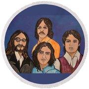 The Fab Four Beatles  Round Beach Towel
